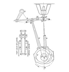Eccentric motion of the steam engine crank in vector