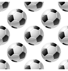 Football or soccer ball seamless pattern vector image vector image