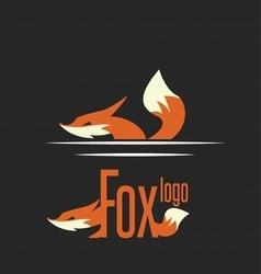 fox logo 7 vector image vector image