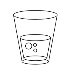 glass water fresh icon thin line vector image vector image