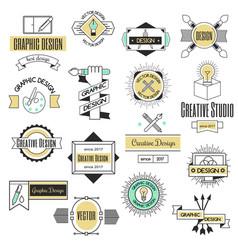 Graphic art design logo company identity vector
