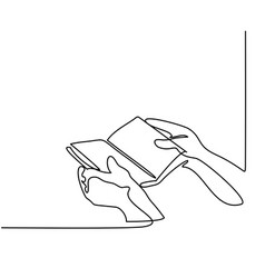 hands holding the bible book vector image vector image