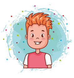 Little happy boy avatar character vector
