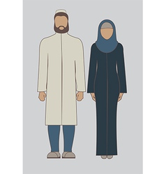 Muslim couple vector