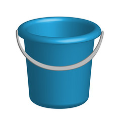 object plastic bucket in 3d vector image