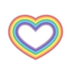 Rainbow icon heart white vector image vector image