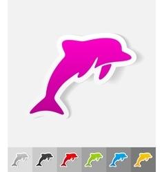 Realistic design element dolphin vector