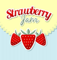 Retro strawberries vector image vector image