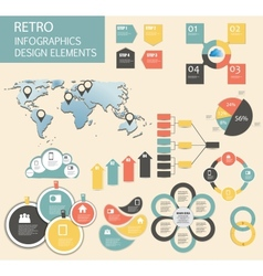 Retro vintage Infographic template business vector image