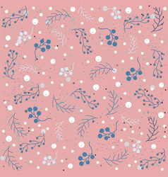seamless winter pattern with berries vector image vector image