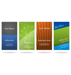 set of four vertical business cards vector image vector image