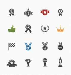 Trophy and prize symbol icons vector image vector image