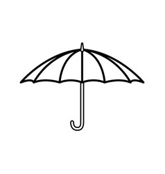 umbrella isolated draw vector image