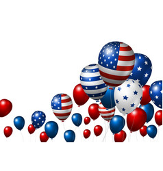 usa balloon design of american flag vector image