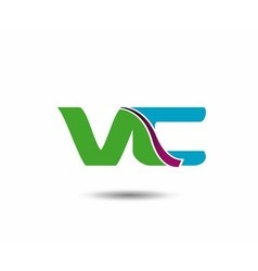 VC logo vector image vector image