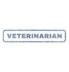 Veterinarian textile stamp vector