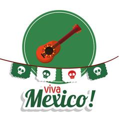 viva mexico - guitar festival poster vector image vector image