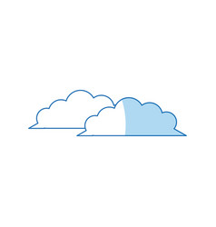 Weather cloud climate environment design vector