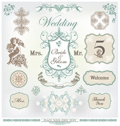 wedding decoration set vector image