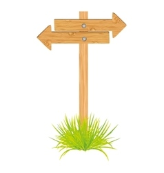wooden arrow guide sign vector image