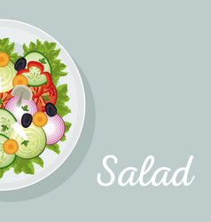 Salad vegetables nutrition diet eat vector