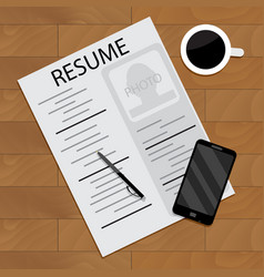 Hired and employment view vector