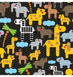 Cute african animals seamless pattern vector image