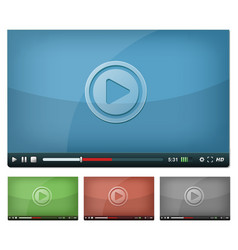 Video player for web and tablet pc vector