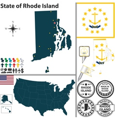 Map of rhode island vector
