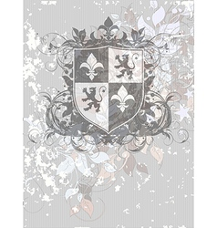 Ornamental heraldic shield vector
