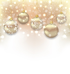 Christmas shimmering background with balls and vector