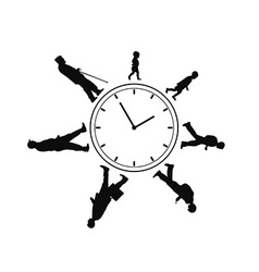 Time passing man from birth till death vector