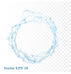 Water splash isolated vector