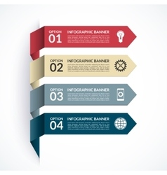 Arrow infographic options banner vector