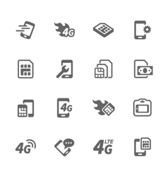 Simple sim card icons vector