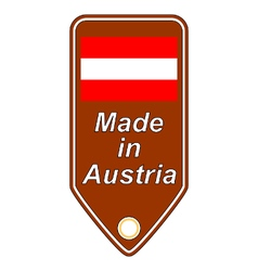 Made in austria icon vector