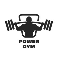 Silhouette of an athlete with a barbell vector image