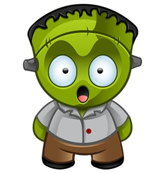 Frankensteins monster shocked vector