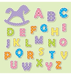 Alphabet letters for kids vector