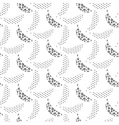 Banana pop art seamless pattern black and vector