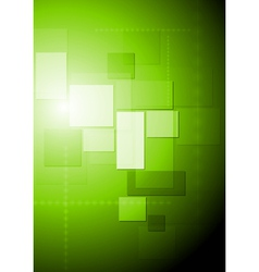Bright green abstract tech design vector image vector image