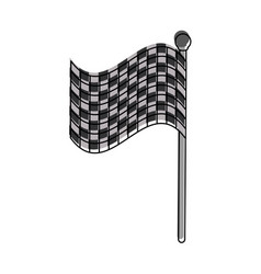 checkered flag car racing related icon image vector image