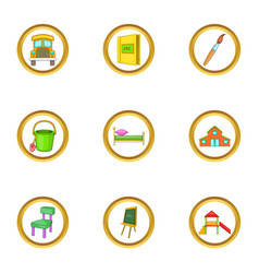 Child icons set cartoon style vector