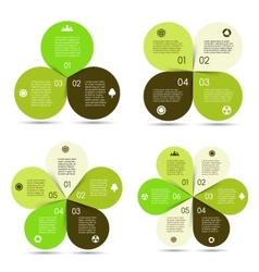 circle eco infographics set vector image vector image