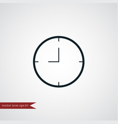 Clock icon simple vector