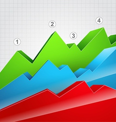 colorful graph vector image vector image