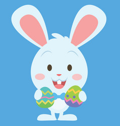 Easter bunny with egg art vector