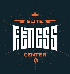 Elite fitness center - emblem or logo with vector