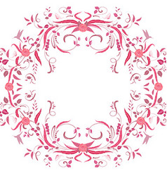 Floral swirl frame for your design vector