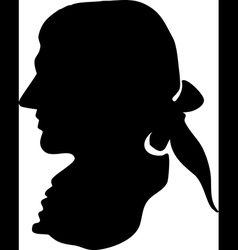 George washington silhouette vector